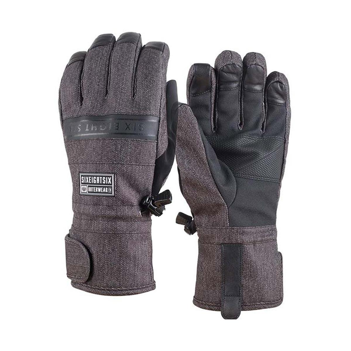 Перчатки и варежки 686 Recon Glove Black Denim 2017