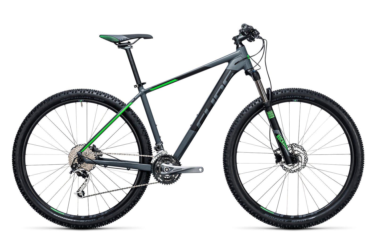 Велосипед CUBE Analog 27.5 Darkgrey/Green