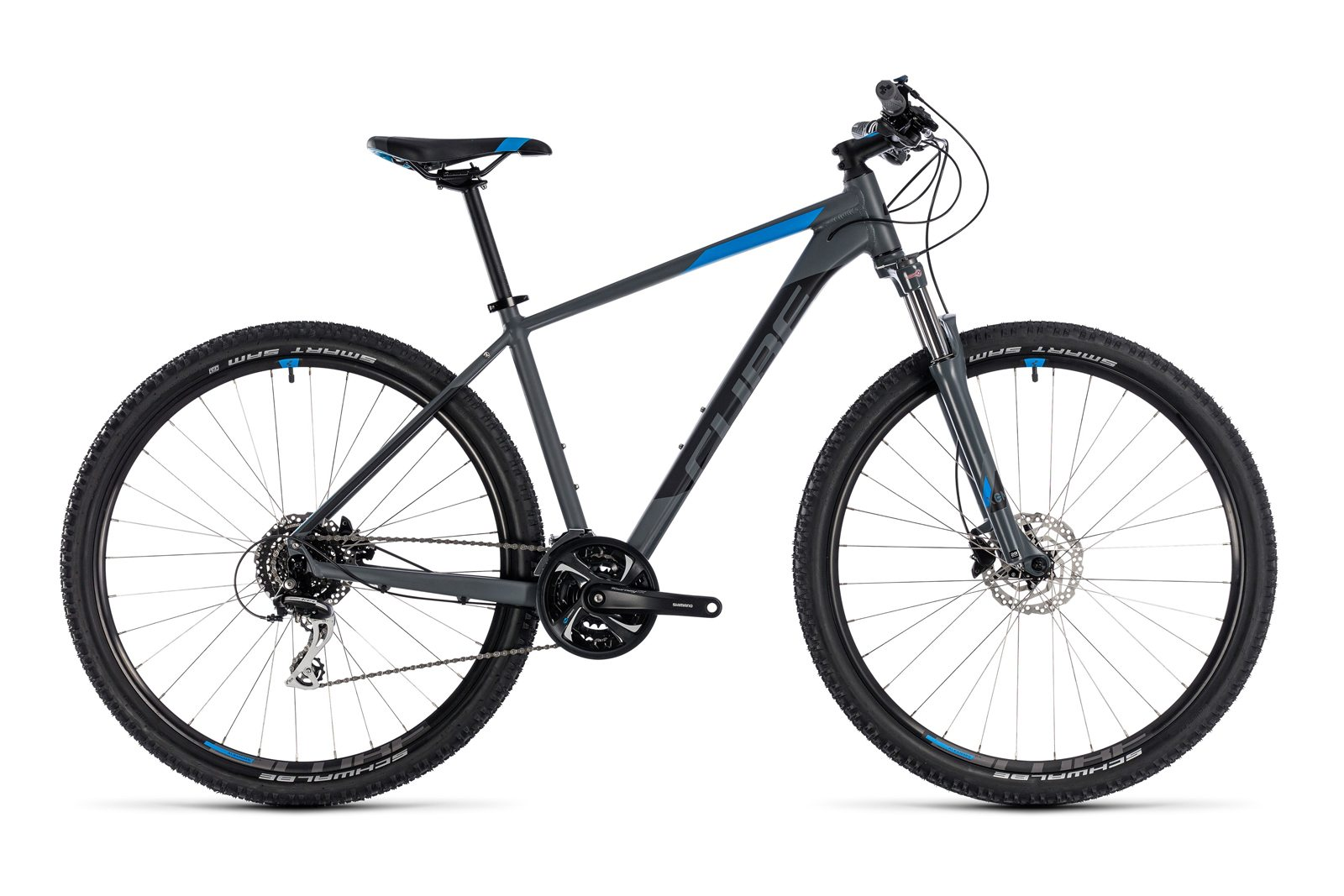 Велосипед CUBE Aim Race 27.5 Grey/Blue