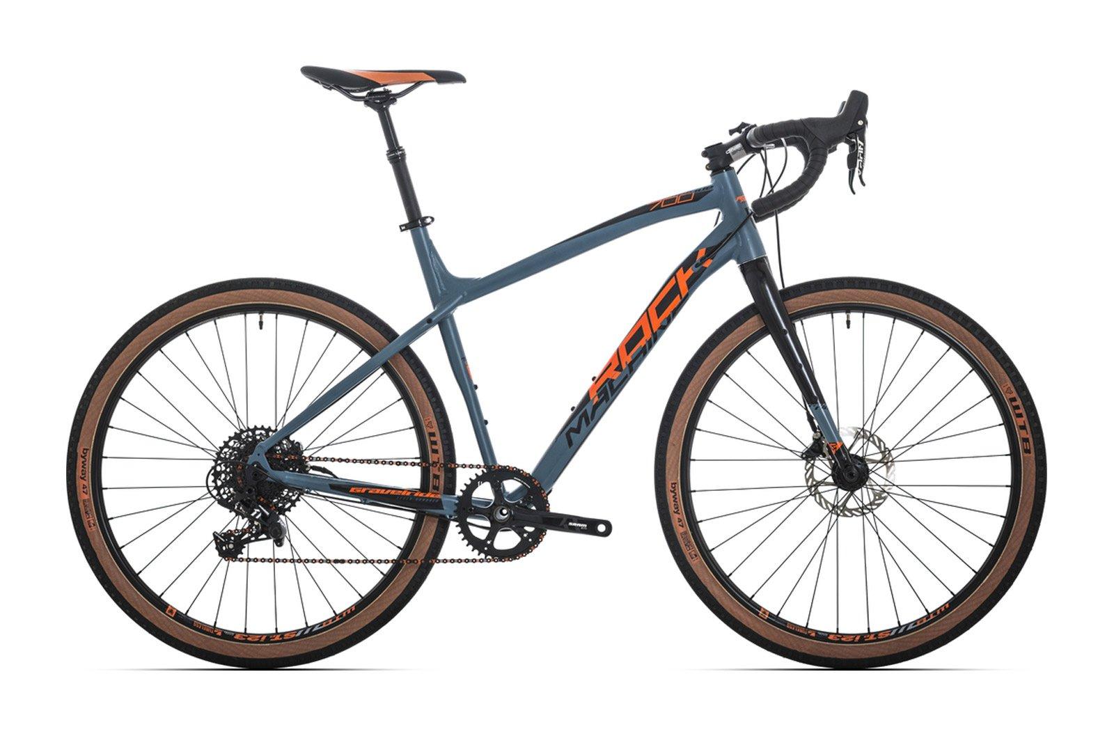 Велосипед Rock Machine Gravelride 700 Matte Khaki/Neon Orange