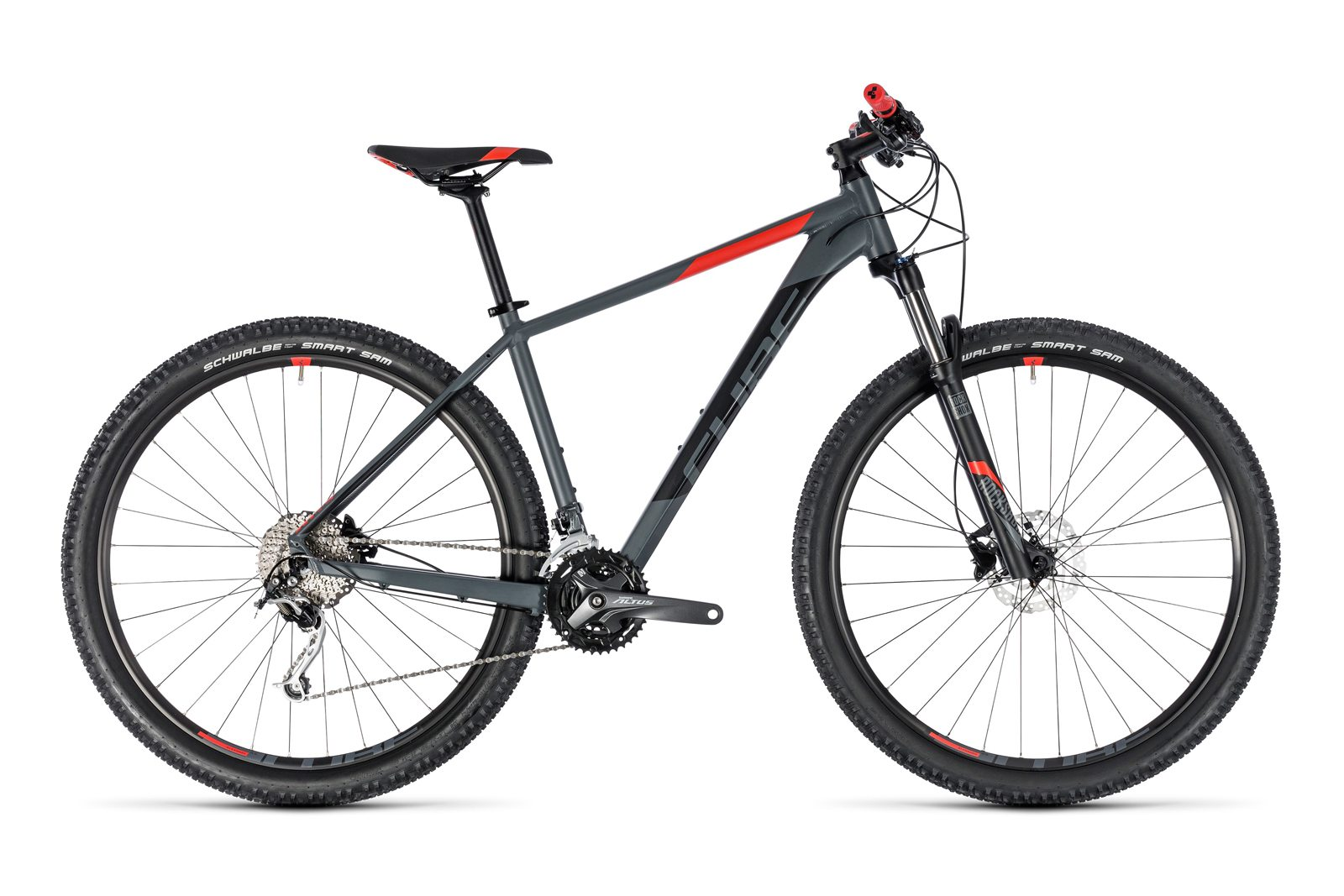 Велосипед CUBE Analog 27.5 Grey´n Red