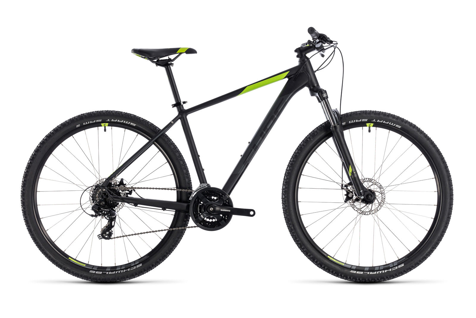 Велосипед CUBE Aim 27.5 Black/Green