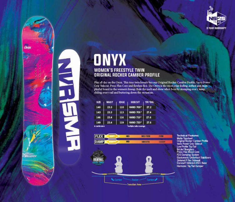Сноуборд Never Summer Onyx  2017
