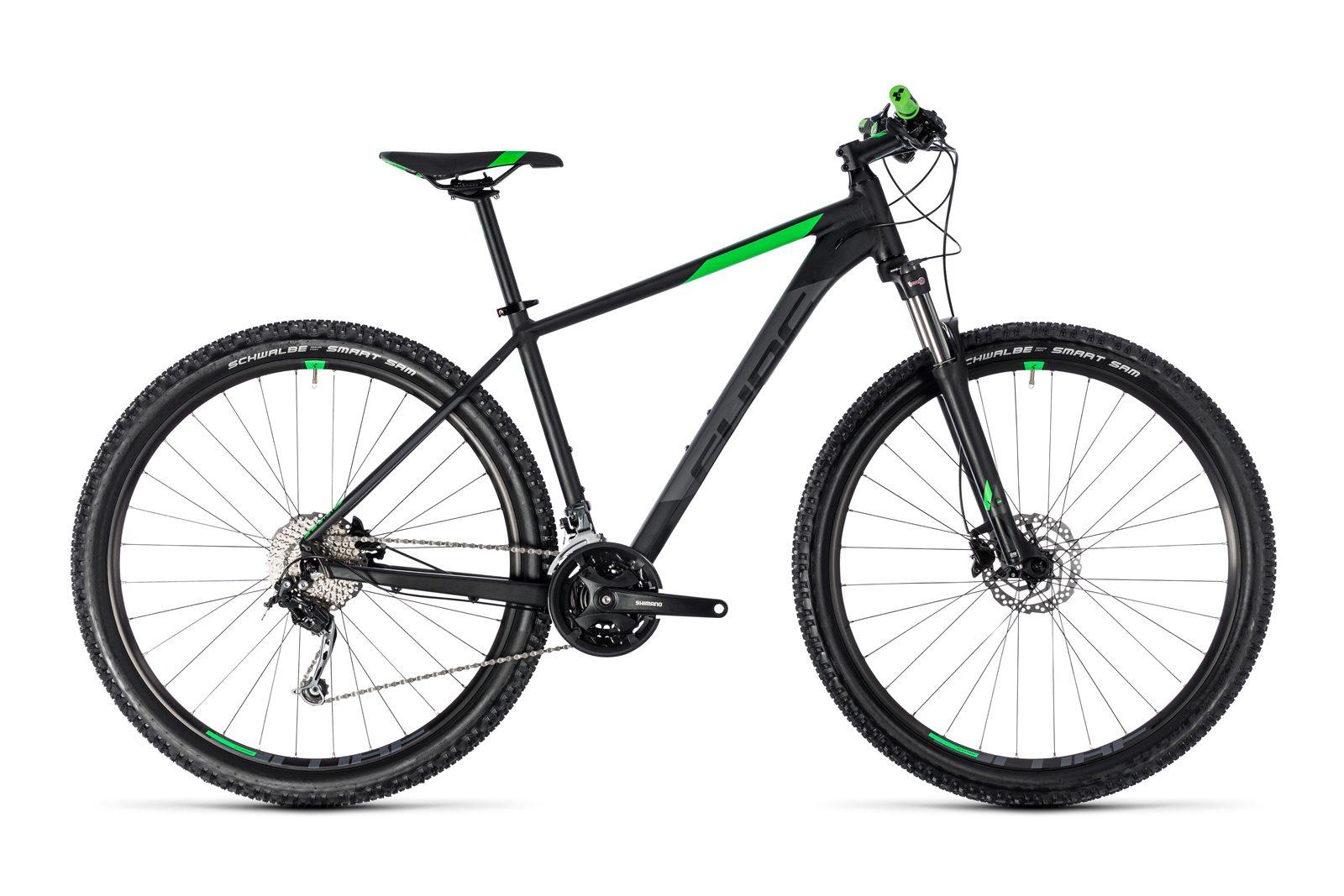 Велосипед CUBE Aim SL Black Flashgreen