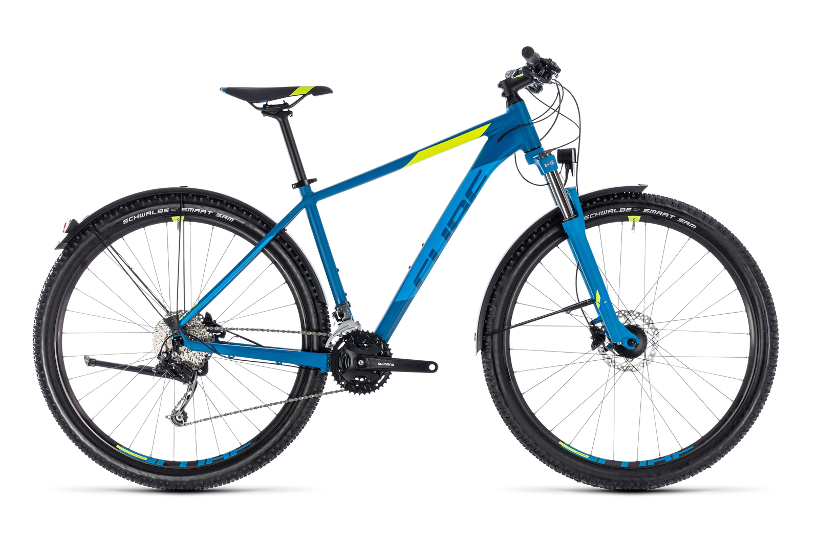 Велосипед CUBE Aim SL Allroad 27.5 Blue Flashyellow