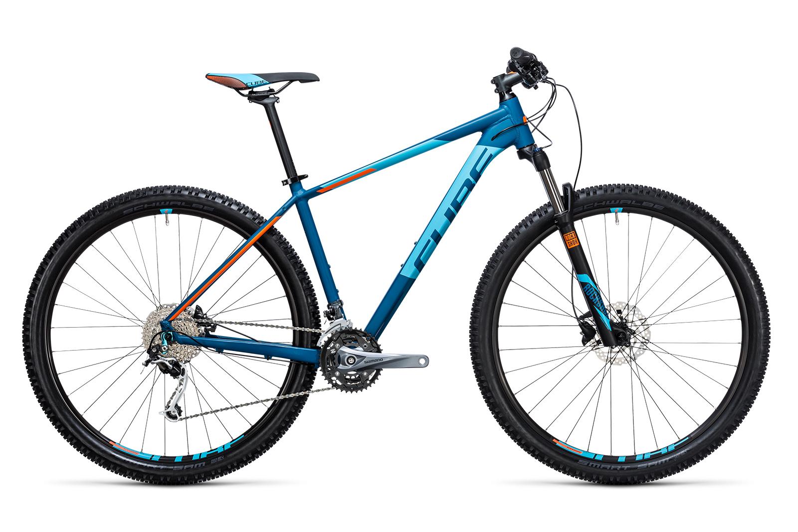 Велосипед CUBE Analog 27.5 Blue/Flashorange