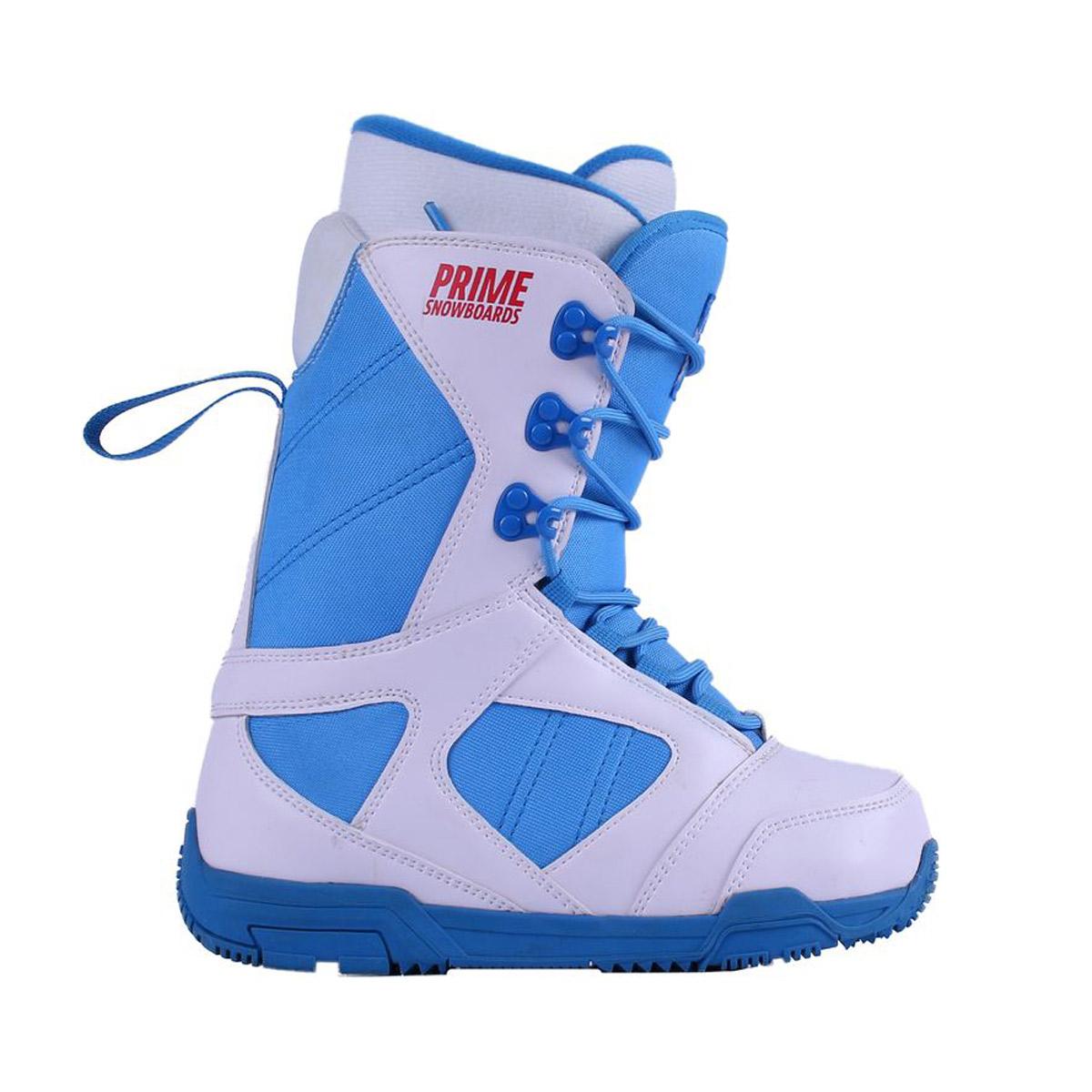 Ботинки для сноуборда PRIME Classic White/Blue 2018